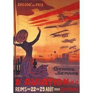 Woman Waving during Great Week of Aviation - Vintage Advertisement (Keepsake Tin)