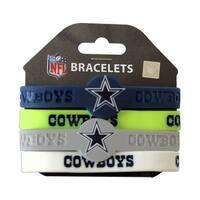 Dallas Cowboys NFL Silicone Rubber Wrist Band Bracelet Set of 4