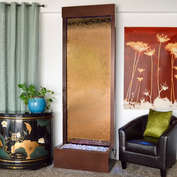 Bluworld Gardenfall Waterfall w/ Bronze Mirror, 8-Foot