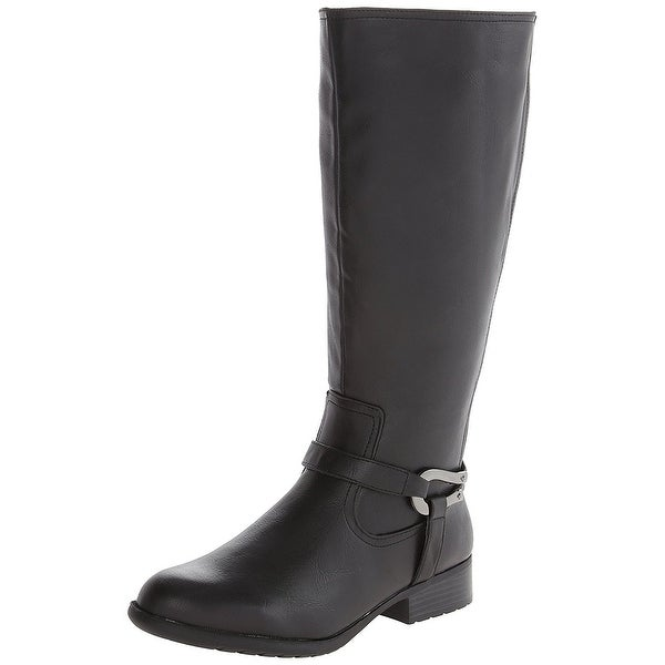 LifeStride Womens Xena Almond Toe Knee High Fashion Boots