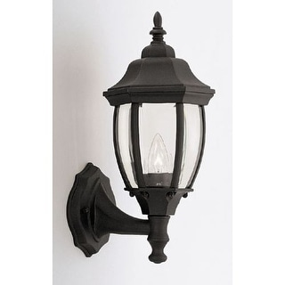 """Designers Fountain 2420-BK 1 Light 6.5"""" Cast Aluminum Wall Lantern from the Tiverton Collection"""