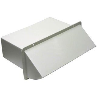 "Lambro 1170W White Plastic Wall Cap Damper, 3-1/4"" x 10"""