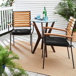 Humble + Haute Sunbrella Canvas Black Indoor/ Outdoor Cushion, Set of 2