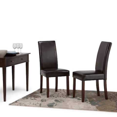 "WYNDENHALL Normandy Contemporary Parson Dining Chair (Set of 2) - 18.1""w x 18.5"" d x 39.4"" h"