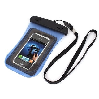 Unique Bargains Universal Waterproof Case Dry Bag Protective Cover Pouch Blue for 4  Cell Phone