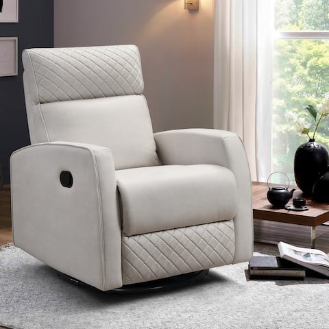 Diamond Glider & Swivel Manual Recliner