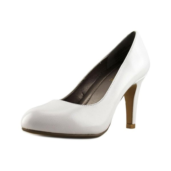 Easy Spirit Kaymile Women Round Toe Leather White Heels