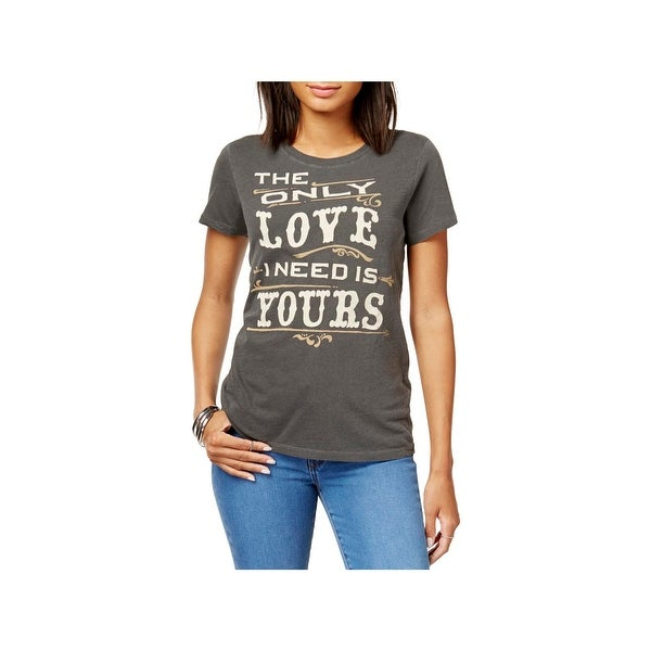 Lucky Brand Womens Graphic T-Shirt Crewneck Short Sleeves