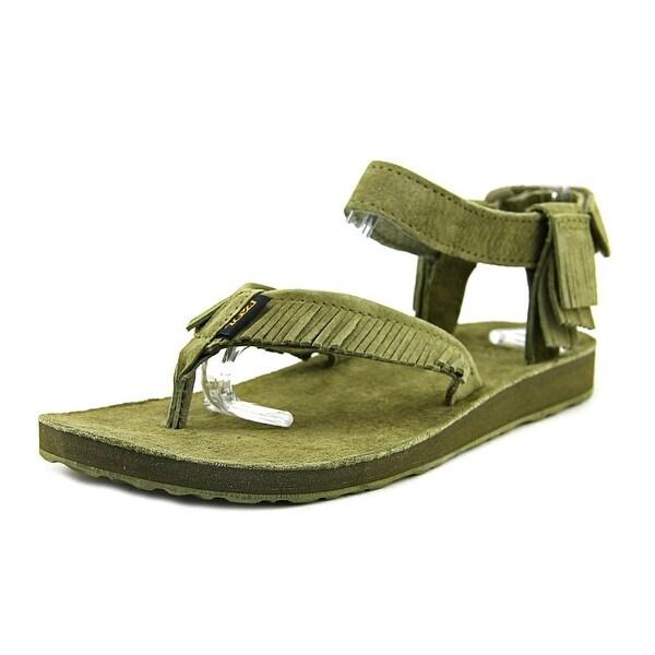 Teva Original Sandal Leather Fringe Women Open Toe Leather Thong Sandal