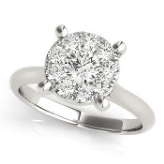 1.75 CT.TW ENGAGEMENT RING in 14KT White gold - White H-I