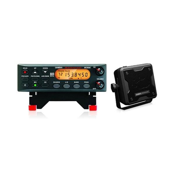 Uniden BC355N Scanner w/ External Speaker & Backlit LCD Display