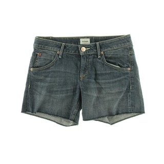 Hudson Womens Hampton Cuffed Medium Wash Denim Shorts - 24