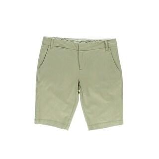 Modern Supply Womens Bermuda Shorts Twill Mid-Rise - 6