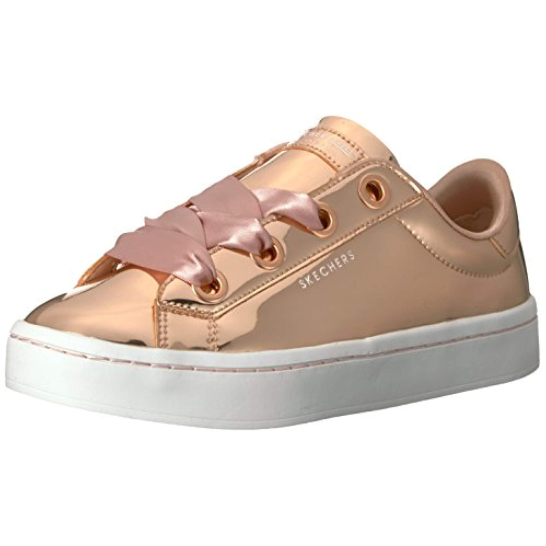 Skecher Street Women's Hi Lite Metallic Patent Sneaker,Rosegold