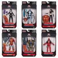 Hasbro  6 in. Marvel Legends Deadpool Series, Assorted - Pack of 8