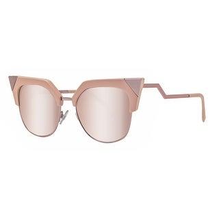 Fendi FF 0149/S Z8C 0J Iridia Pink Rose Gold Mirror Cat Eye Sunglasses - Pink Rose - 54mm-18mm-140mm