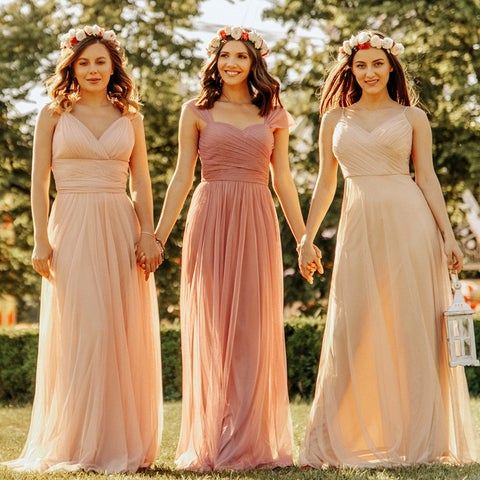 Ever-Pretty Women's Blush Pink Wedding Party Bridesmaid Maxi Dress 07303