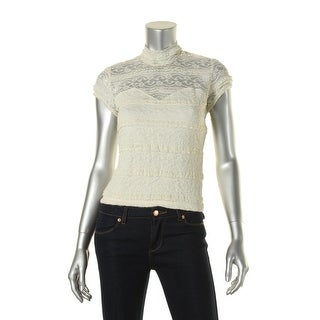 Guess Womens Lace Tiered Crop Top - S