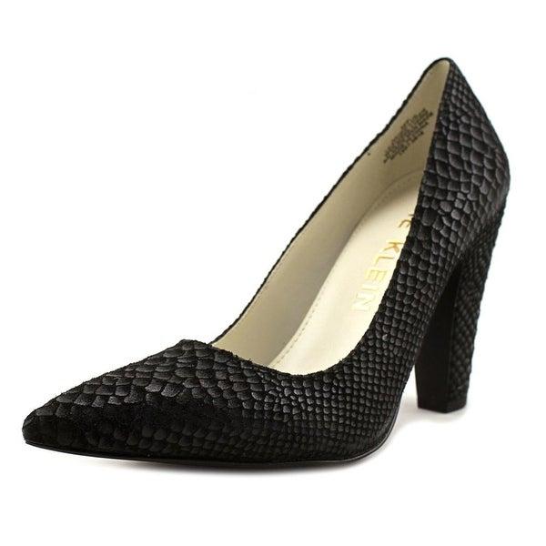 Anne Klein Hollyn Women Pointed Toe Leather Black Heels