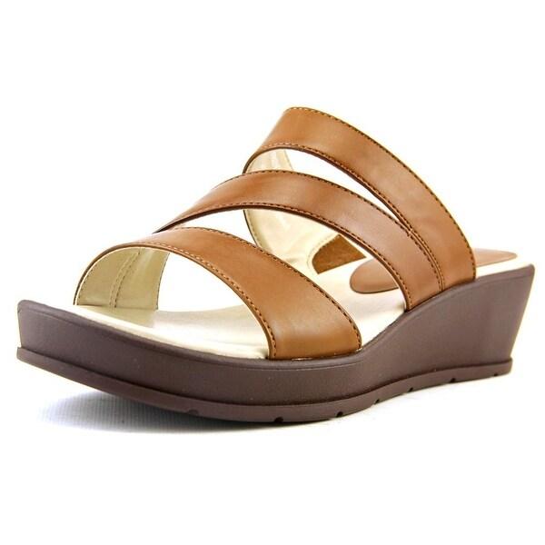 Kim Rogers Frienda Women Open Toe Leather Wedge Sandal