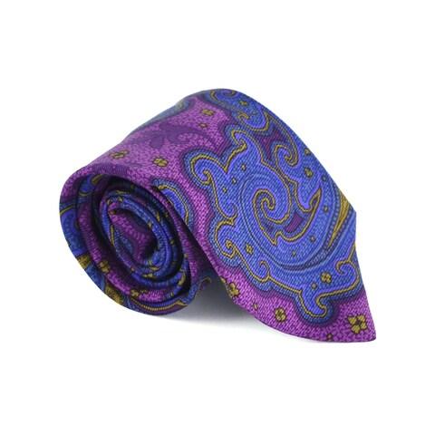Etro Mens Purple 100% Silk Multiple Classy Print 3.25 In Standard Tie