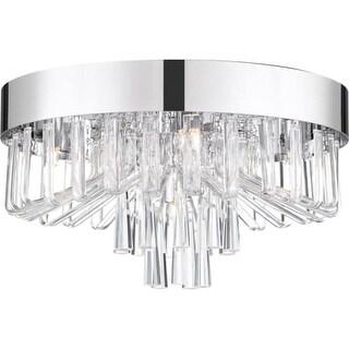 """Platinum PCVE1616 Venus 5 Light 16"""" Wide Flush Mount Ceiling Fixture with Glass"""