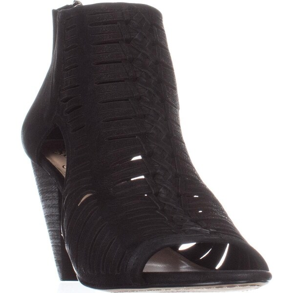 Vince Camuto Eldora Peep Toe Heeled Sandals, Black