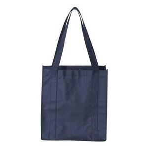 Non-Woven Classic Shopping Bag - Navy - One Size