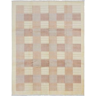 ECARPETGALLERY Hand-knotted Peshawar Ziegler Gold Wool Rug - 9'5 x 12'4