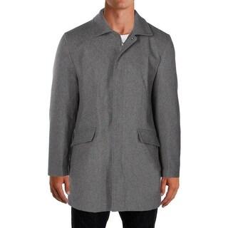 Perry Ellis Mens Coat Wool Overcoat