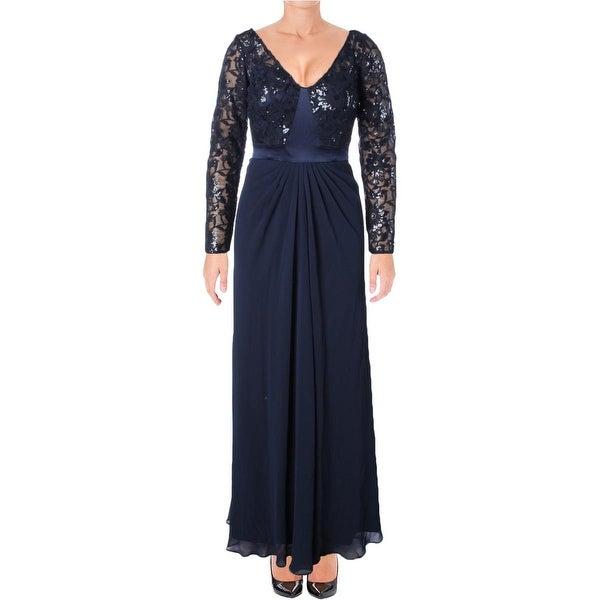 Lauren Ralph Womens Evening Dress Chiffon Sequined