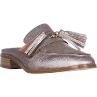 Aquatalia Stella Slip On Tassle Loafers, Platinum