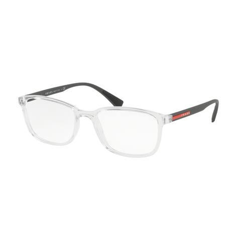 Prada Linea Rossa PS 04IV 2AZ1O1 55 Transparent Man Rectangle Eyeglasses