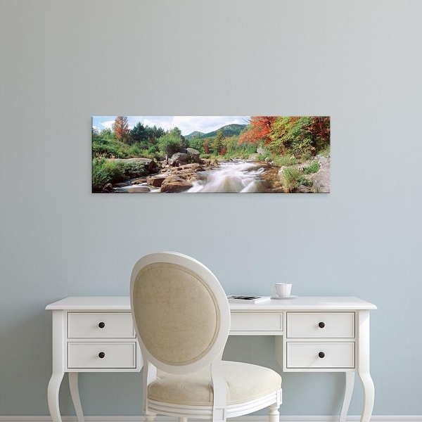 Easy Art Prints Panoramic Image 'River Flowing Through Rocks, Ausable River, Wilmington, New York, USA' Canvas Art