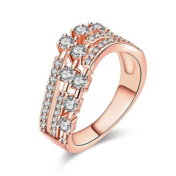Rose Gold Circular World Fusion Ring