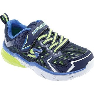 Skechers Boys' Thermoflux Nano Grid Sneaker Navy/Lime