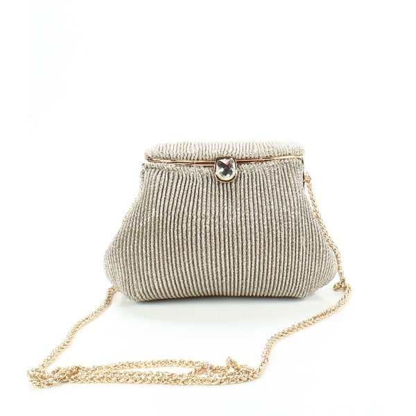 Shop Adrianna Papell Gold Silver Sheryl Small Glitter Clutch Evening ... 12a54b9ff837