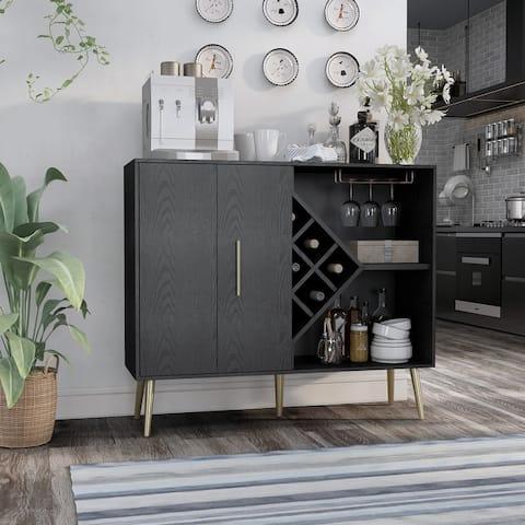 Carson Carrington Lesund Modern Black Storage Buffet