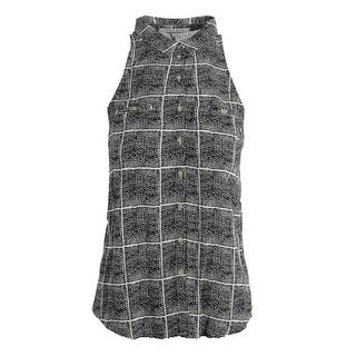 Bella Luxx Womens Blouse Printed Sleeveless - s