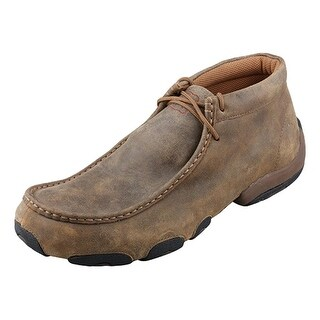 Twisted X Casual Shoes Mens Leather Driving Moc Bomber Brown