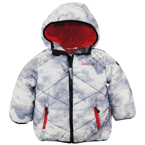 5c72bceb8 Shop Big Chill Toddler Boys Quilted Winter Puffer Jacket with Sherpa ...