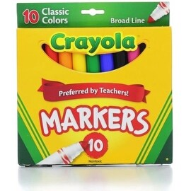 Crayola Classic Markers, Broad Line 10 Each