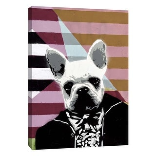 "PTM Images 9-105941  PTM Canvas Collection 10"" x 8"" - ""Mr. French II"" Giclee Dogs Art Print on Canvas"