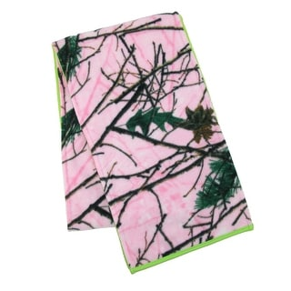 Grand Sierra Women's Camouflage with Contrast Color Reversible Scarf - One Size