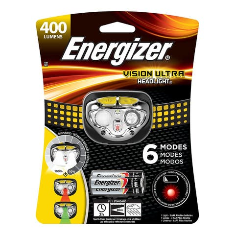 Energizer HDE32E Vision Ultra LED Headlight with 6 Modes & HD Optics