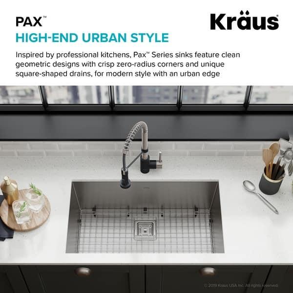 Kraus Pax Stainless Steel 31 1 2 Inch 1 Bowl Undermount Kitchen Sink Overstock 10791867