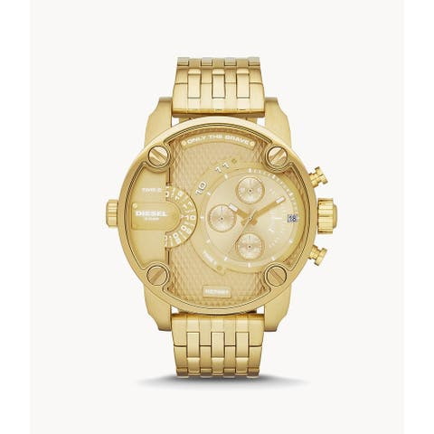 Diesel Men's Little Daddy Multifunction Gold-Tone Steel Watch - N/A
