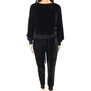 Re:named NEW Black Womens Size Small S Velvet Sweater Jogger Pant Set