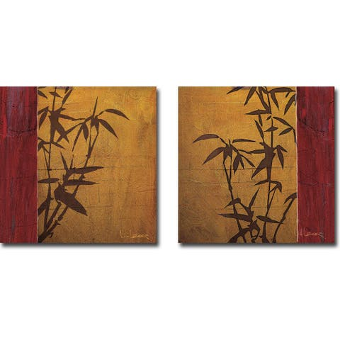 Modern Bamboo I & II by Don Li-Leger 2-pc Gallery Wrapped Canvas Giclee Set (24 in x 24 in Each Canvas in Set)