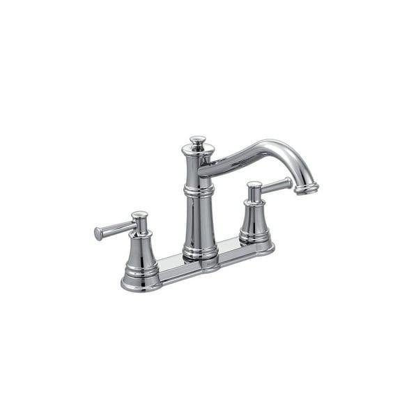 Shop Moen 7250 Belfield High Arc Double Handle Kitchen Faucet Overstock 17008410